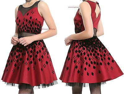 Knights Dress (DC Comics Gotham Knights Collection Harley Quinn Formal Dress Size S - XL NWT!)