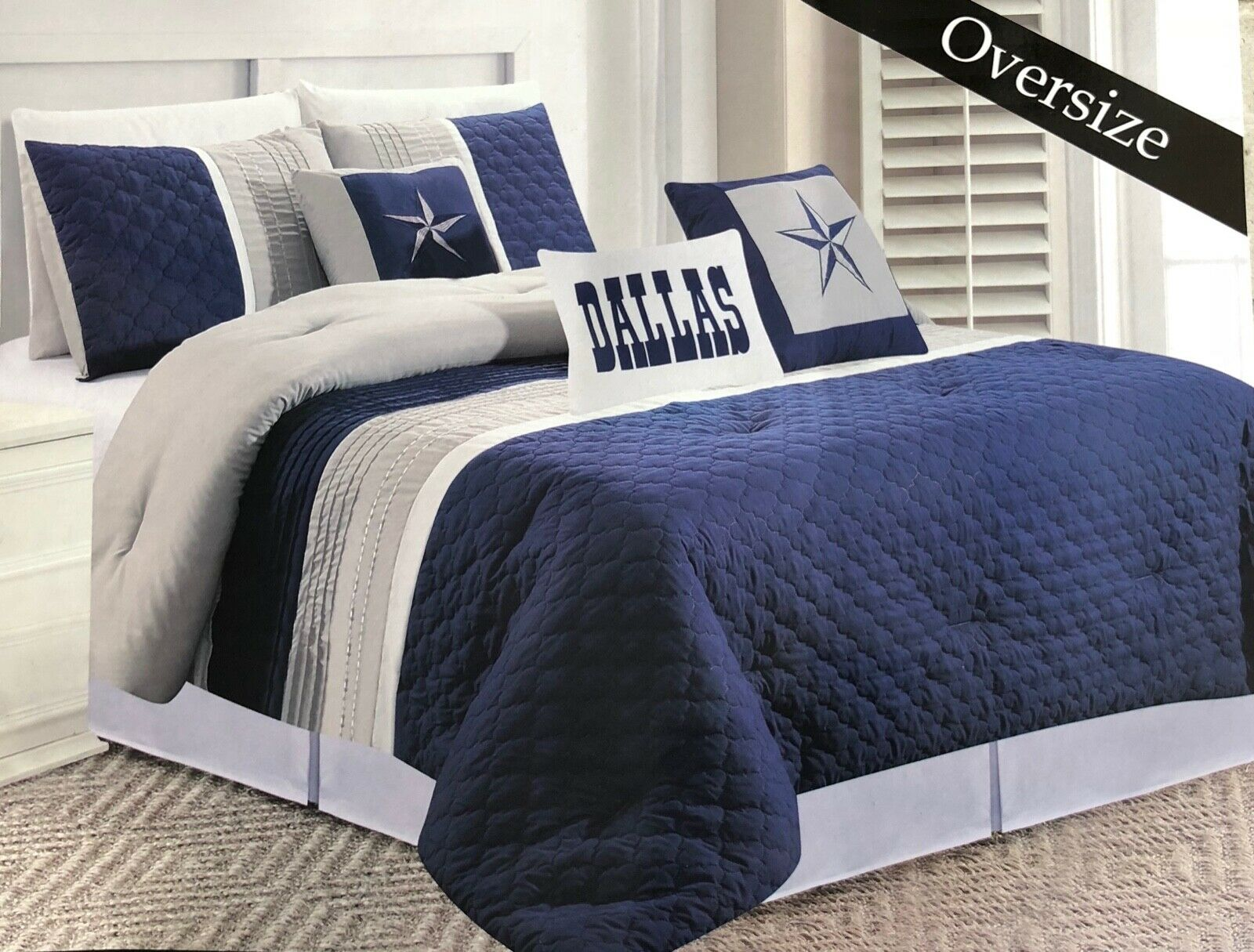 dallas cowboys western star design quilt bedspread