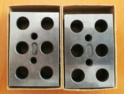 Finn 1-2-3 Gauge Blocks 11 2 Threaded Holes Thru. Set Of Two