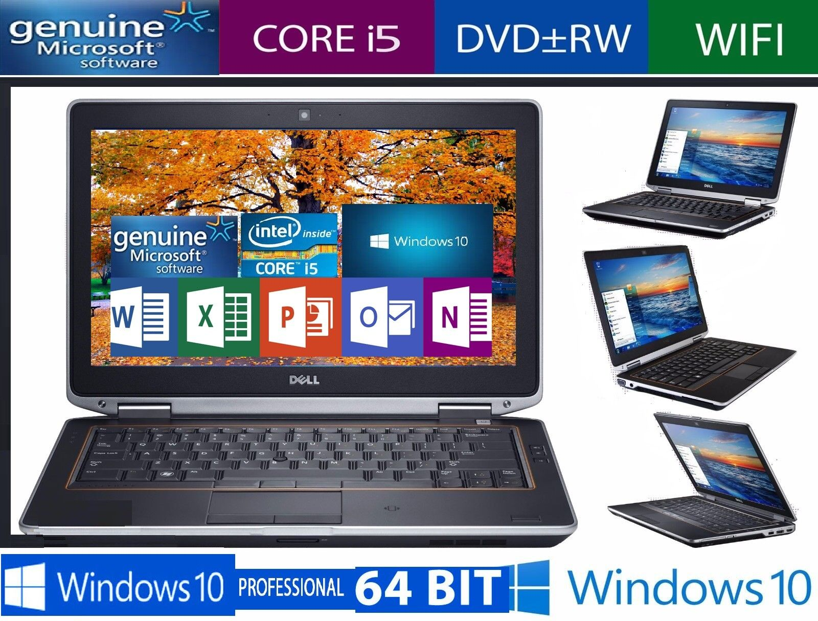 "DELL LATITUDE E6530 15.6"" LAPTOP INTEL CORE i5-fast processor, memory loaded"