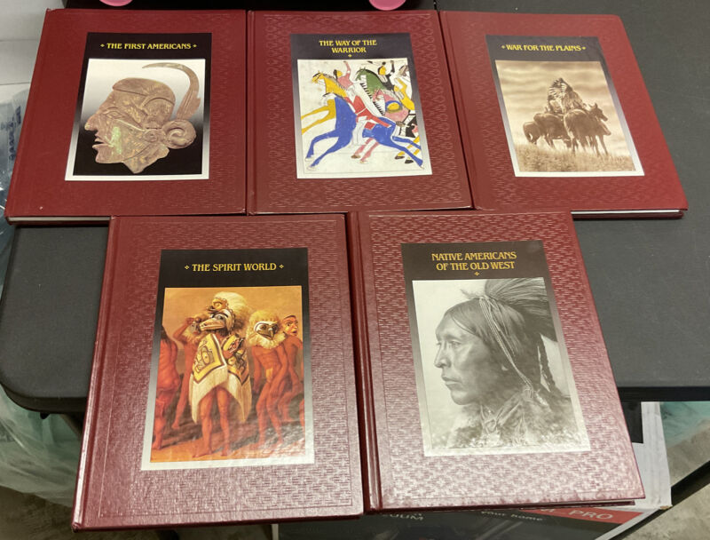 """Lot of 5 Time Life Books """"The American Indians"""" Hardcover Barely Read"""