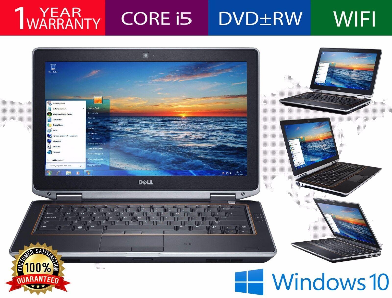 """Dell Latitude E6320 Laptop Core i5 2nd Gen 2.5GHz 128GB 4GB DVD 13.3"""" Windows 10"""