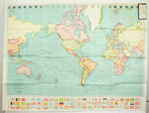 Colorprint General Map of the World Mercator