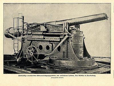 Zwölfzöllige amerikanische Küstenverteidigungsgeschütze mit...Bilddokument 1901