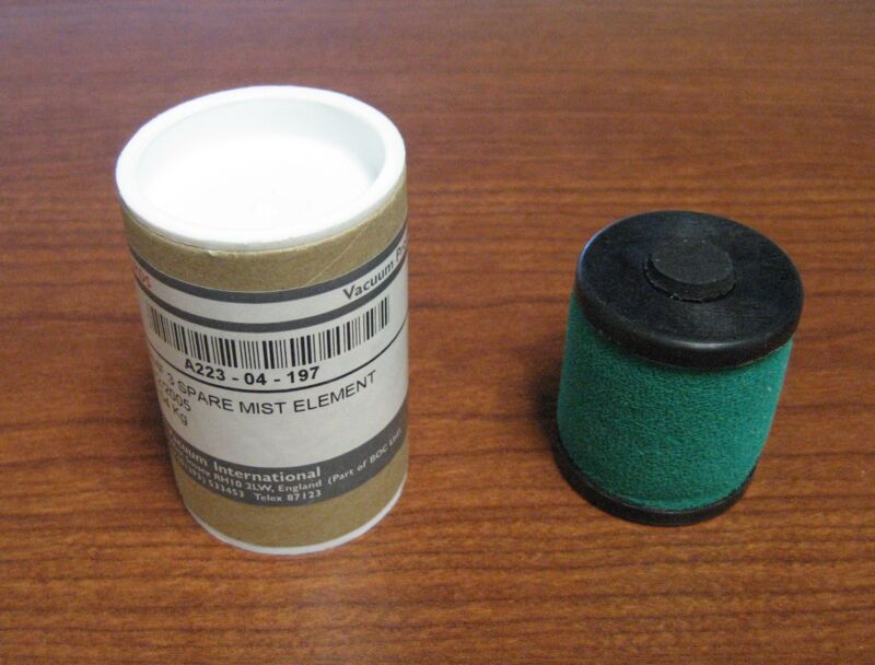 NEW EDWARDS EMF 3 SPARE MIST ELEMENT A223-04-197 - FREE SHIPPING