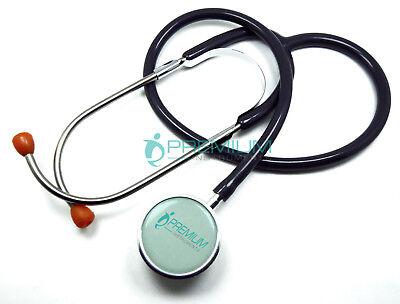 Clinical Grade Dual-head Stethoscope Classic Lightweight Binaural Spring Gray