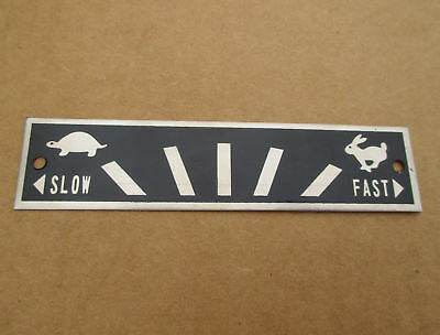 Throttle Speed Plate W Turtle Rabbit For Ih International Farmall Hydro 100