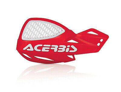 ACERBIS UNIKO VENTED HANDGUARDS RED WHITE MOTOCROSS MX ENDURO CHEAP PAIR + KIT