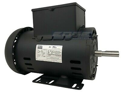 5 Hp Air Compressor Duty Electric Motor 56h Frame 3440 Rpm Single Phase Weg New