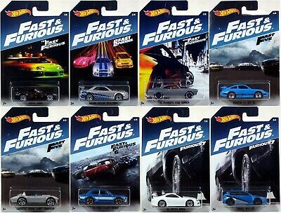 Hot Wheels 2017 FAST & FURIOUS SERIES Set of 8 Cars NEW Porsche Corvette Honda +