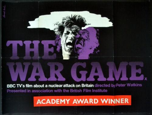 WAR GAME 1965 Peter Watkins, Kathy Staff, Romek Marber UK QUAD POSTER