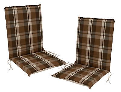 Gartenstuhlauflage Stuhlpolster Sesselauflage Garten Auflage CAIRO braun 2 STÜCK