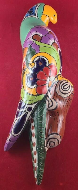 Talavera Mexican Folk Art Parrot Terracotta