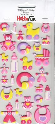 3D CREApop Sticker - HobbyFun - Baby - Girl - HF126