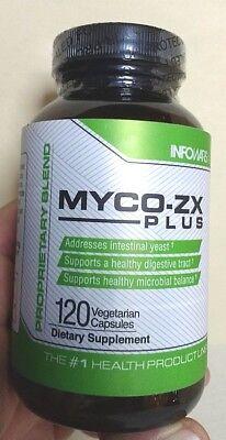 Myco Zx Plus Alex Jones  Infowars 120 Capsules Dietary Gut Yeast Balance Enzyme