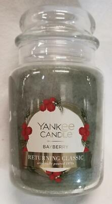 Yankee Candle BAYBERRY Large Jar 22 Oz Green Housewarmer Wax 50th -