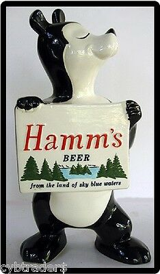 Hamms Beer Bear Holding Sign  Refrigerator / Tool Box Magnet