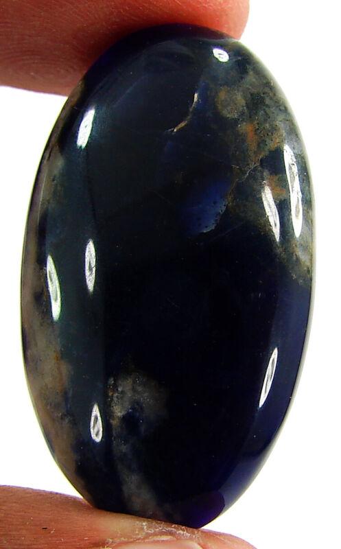 38.45 Ct Natural Blue Sodalite Loose Gemstone Cabochon Stone Cab Gem - PS362