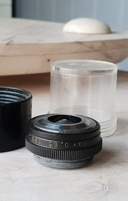 Soviet Vintage Objective Lens 40 X 0.65 190 For Microscope Lomo Zeiss Rms