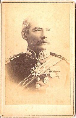 CDV photo Major General Sir Charles William Wilson - 1880er