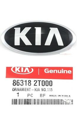 Front Bumper Emblem - Front Bumper Emblem Hood Kia Logo Mark 2011-2018 Optima Genuine Badge Ornament