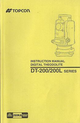 Topcon Digital Theodolite Dt-200200l Series Instruction Manual