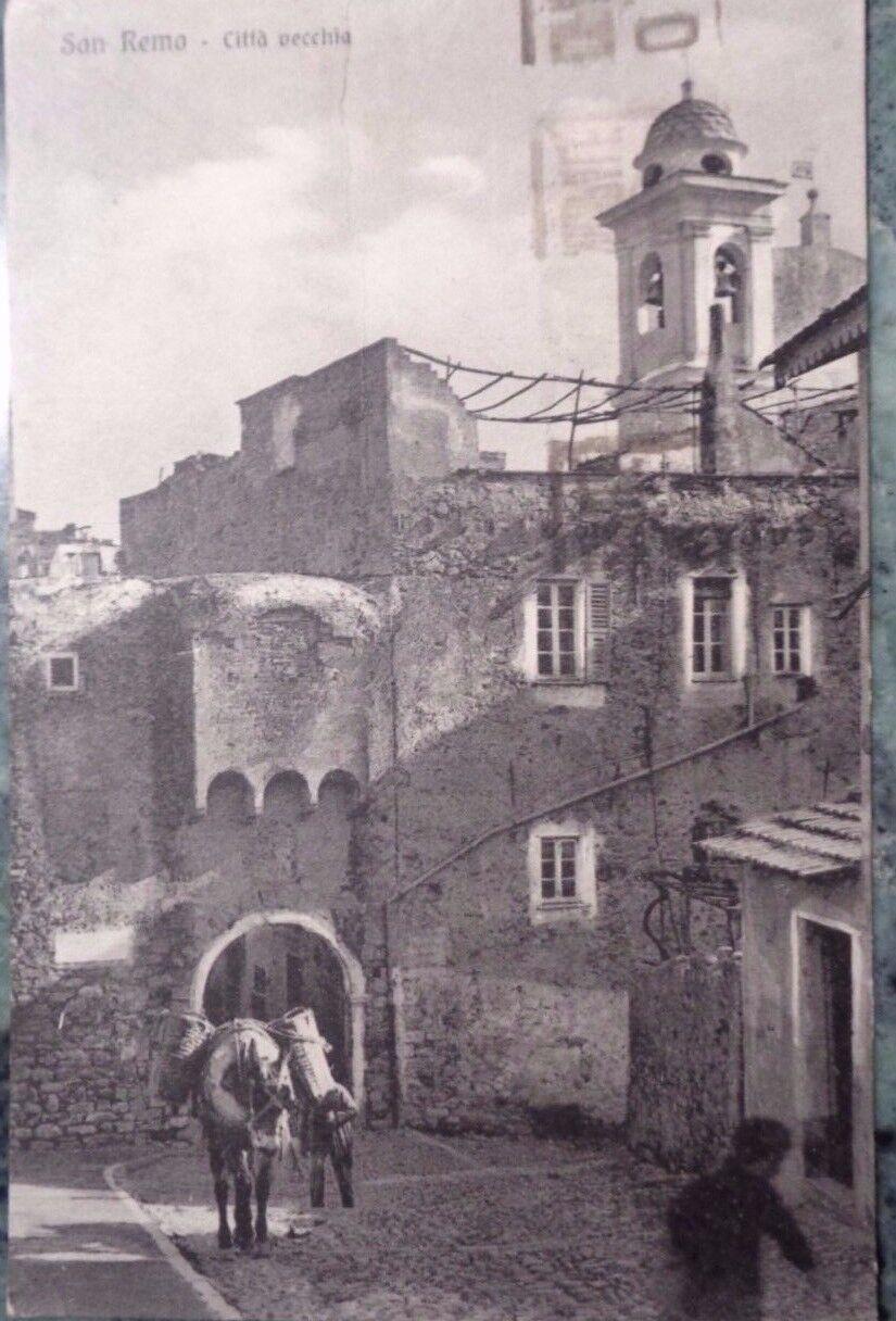 IMPERIA SAN REMO CITTÀ VECCHIA MULO GERLE E FANTASMA ANIMATA VIAGGIATA 1939 30'S