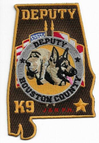 """Houston County Deputy  K-9, AL (3"""" X 5"""" size)  shoulder police patch (fire)"""
