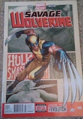 Savage Wolverine #5 Marvel 2013 Comic Book ( Free Shipping )