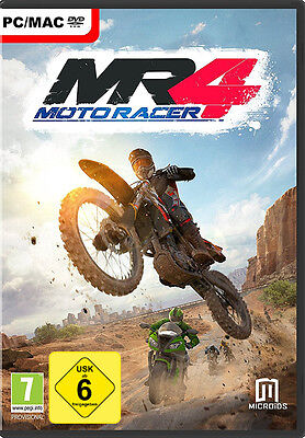 PC/ MAC Dvd Juego Moto Racer 4 escudo-nuevo-motorista-carrera motos MR 4 DAY ONE