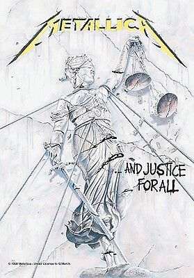 Metallica And Justice For All large fabric poster / flag   1100mm x 750mm (hr)