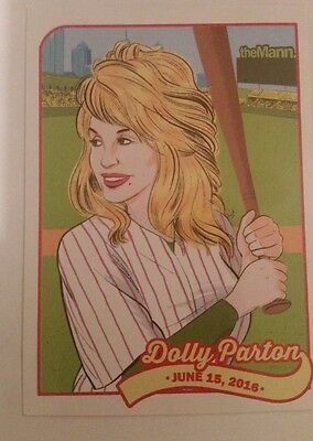 LEGENDARY DOLLY PARTON 2016 TOUR MANN MUSIC CENTER PHILADELPHIA TRADING CARD