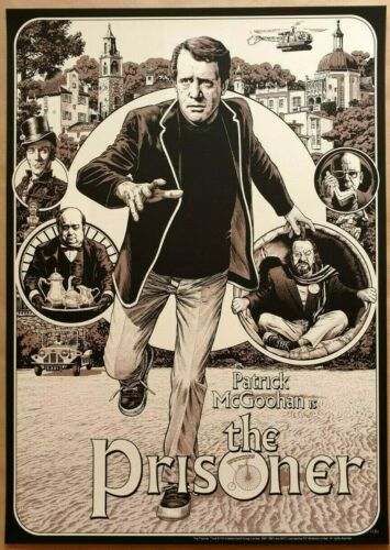CHRIS WESTON - THE PRISONER Variant Screen Print Poster Patrick McGoohan BBC