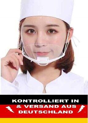 Mund Nasen Visier transparent Gesichtsmaske Gesichtsschutz Gesichtsvisier Weiss