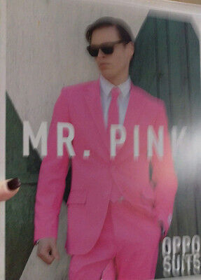 Oppo Suit Mr Pink Costume Oufit Tie Pants Cancer Awareness Easter Bunny Panther - Pink Bunny Suit Costume
