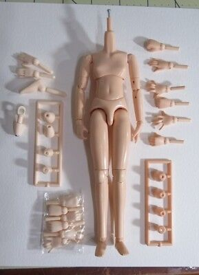 Obitsu Natural Skin Tone Girl Doll Body and White Body Extra Parts Lot