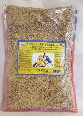 NESTLING FOOD / SUPPLEMENT FOR ALL SEED EATING BIRDS 5LB #5LBRALFYELLOW