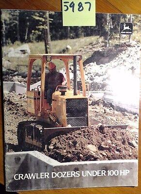 John Deere Crawler Dozers Under 100 Hp Brochure 188 24 Pages 400g 450g 1 Pg