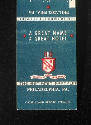 1950s The Benjamin Franklin A Great Name A Great Hotel Philadelphia PA (Pennsylvania Capital Name)