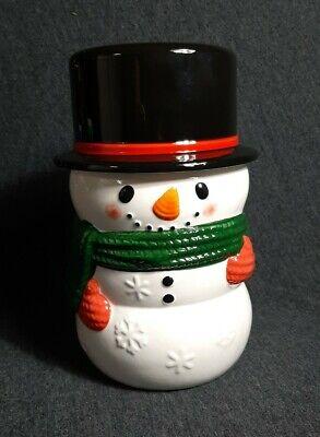 Yankee Candle SNOWMAN Jar Candle Holder Medium / Large COOKIE JAR NEW RETIRED