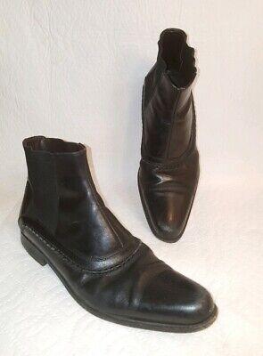 DOLCE & GABBANA Mens Black Leather Long Toe Ankle Chelsea Boots UK 5.5 US 7 Dolce Gabbana Mens Boots
