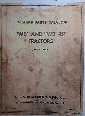 Allis-chalmers Wd Wd-45 Tractor Master Dealer Parts Manual 242pg Farming Major
