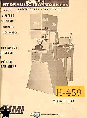 Hmi 30 Ton And 50 Ton Presses 19 Bar Shear Operation Wiring And Service Manual