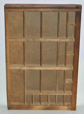 Vintage Printers Letterpress Type Drawer Tray Left 13 Of California Job Case