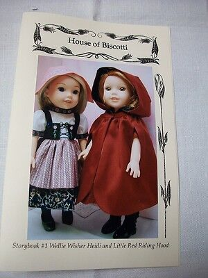 """""""Storybook"""" #1 Wellie Wisher PATTERN Heidi and Little Red Riding Hood"""