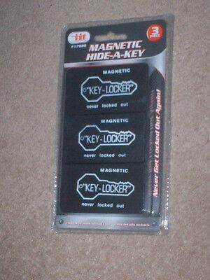 3 Pc. Magnetic Magnet Hide A Key Emergency Spare Key Holder Hider Set