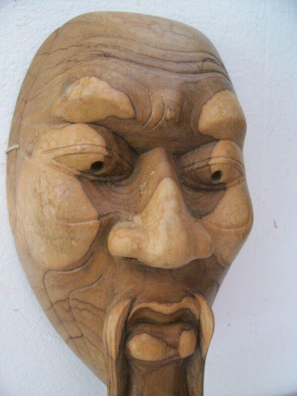 Beautiful  Asian mask. wood style no mask