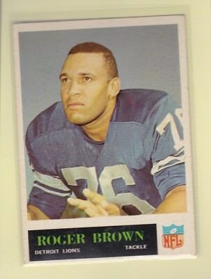 1965 PHILADELPHIA FOOTBALL ROGER BROWN #59 LIONS EX+ *62390