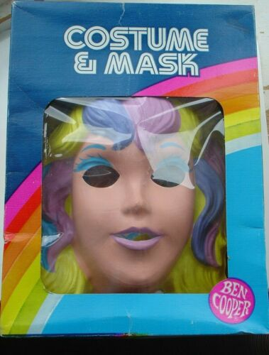 Vintage Ben Cooper Halloween Mask Costume Lovely Lady Locks and the Pixietails