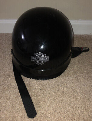 Harley Davidson A5047 Gloss Black Basic Rider DOT Motorcycle Riding Helmet M